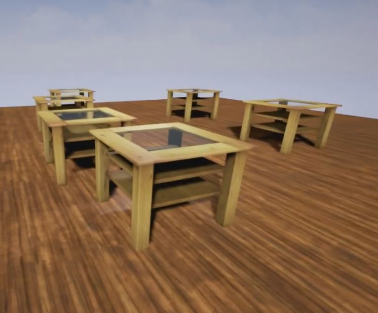 ... Wooden Table With Glass Plate 3d Model Low Poly Obj 3ds Fbx Dxf Stl  Blend ...