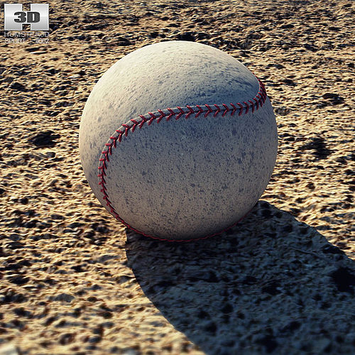 baseball ball 3d model low-poly max obj 3ds fbx c4d lwo lw lws 1