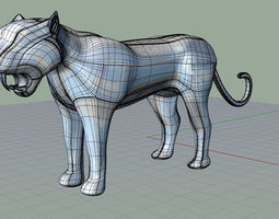 3d printable model prehistoric panther