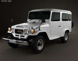 3D model Toyota Land Cruiser J40 Hard Top 1979