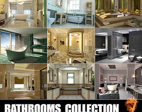 Bathrooms collection 7 3D