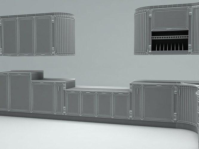 Kitchen emfa 3d model max 3ds fbx for Kitchen set 3ds max