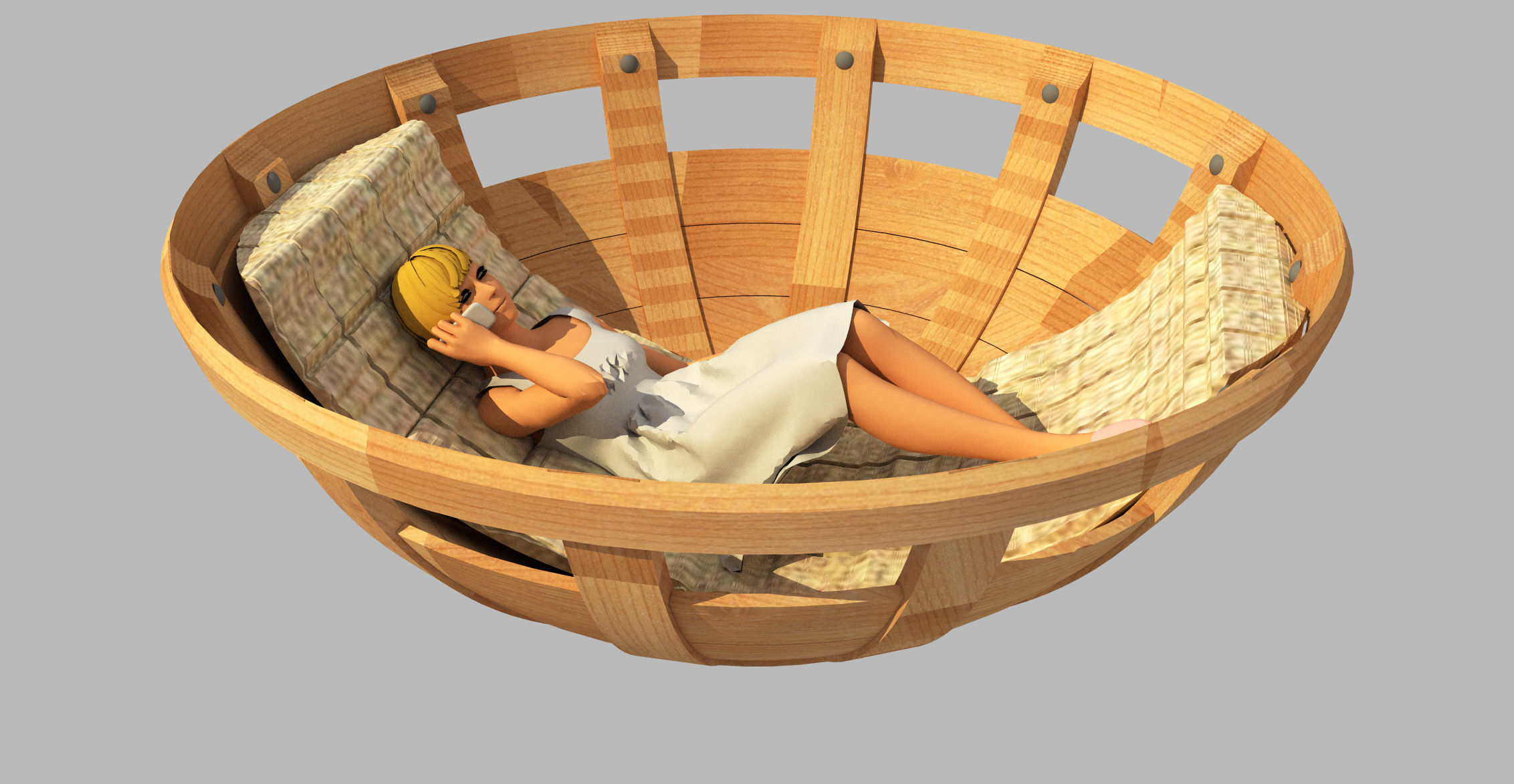 Rocking Chair Free 3d Model Animated 3ds C4d Stl Dae Skp