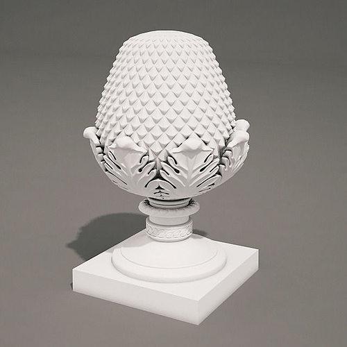 pineapple head 3d model max obj mtl fbx stl ige igs iges 1