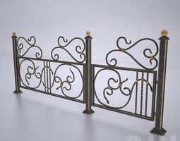 3d model forged fences