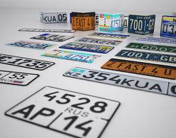 License plates 3D