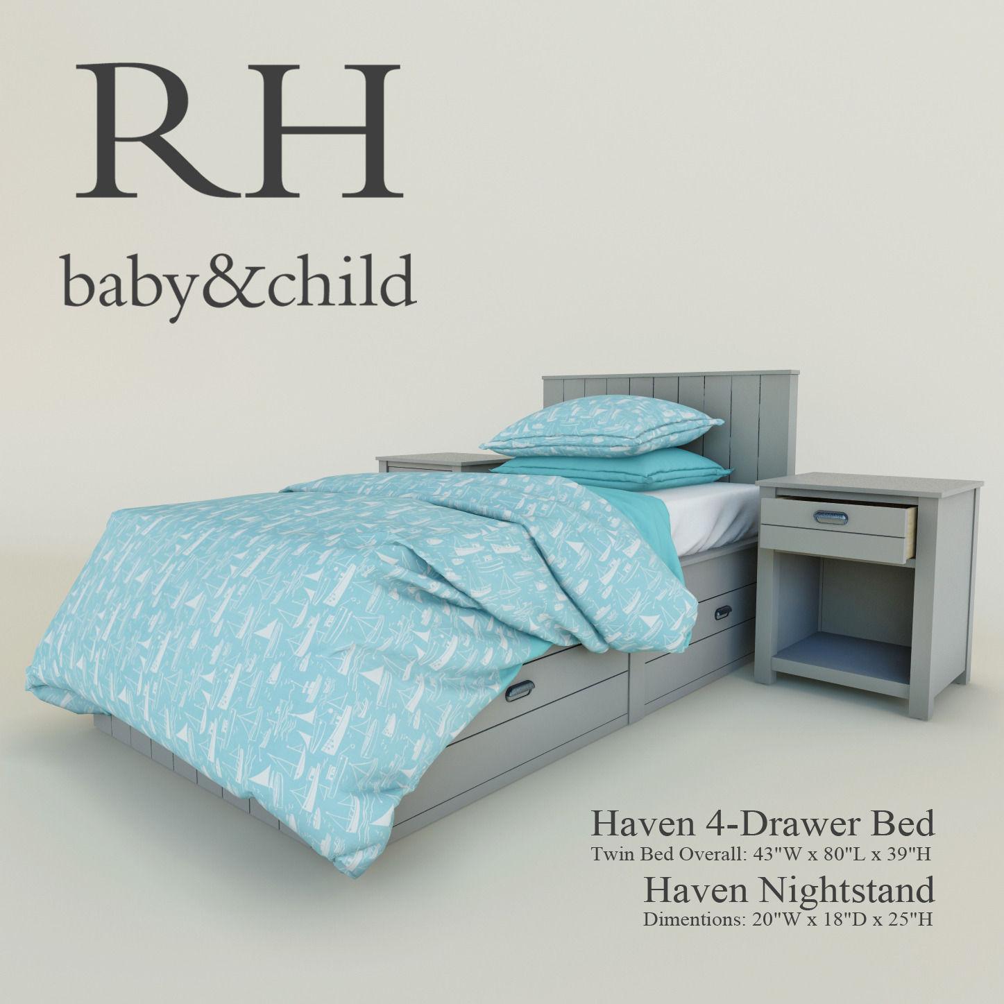 restoration hardware Haven 4-Drawer Bed