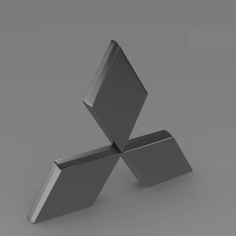 mitsubishi logo 3d model max obj 3ds fbx c4d lwo lw lws