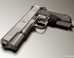 45 ACP Smith and Wesson Gun Model Free 3D Model