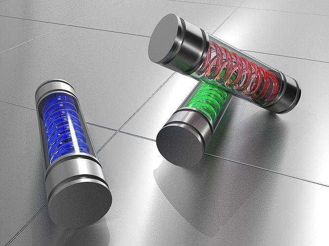 t virus - dna tube 3d model obj fbx ma mb mtl 1
