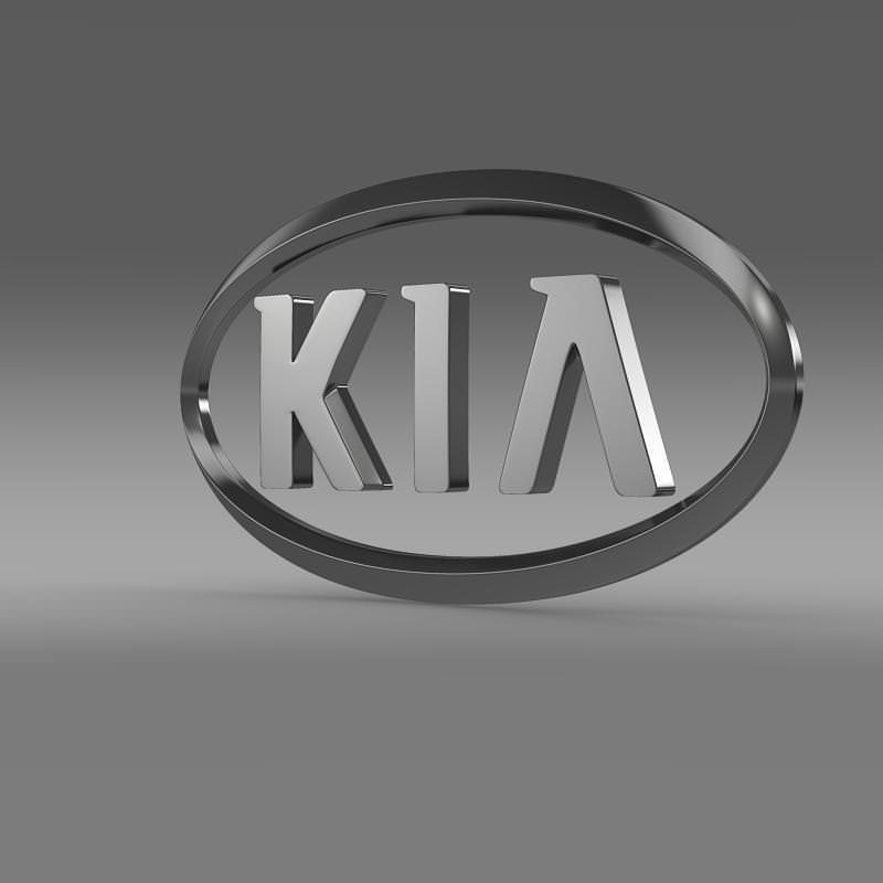 Kia Logo 3d Model Max Obj 3ds Fbx C4d Lwo Lw Lws 3