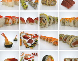 sushi assortiment  VR / AR ready 3d asset