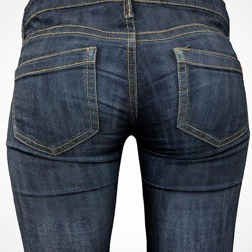 jeans 3d model obj fbx 1