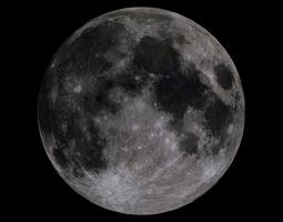moon 4k realtime 3d asset