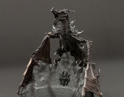 3d printable model dragon elder scrolls v