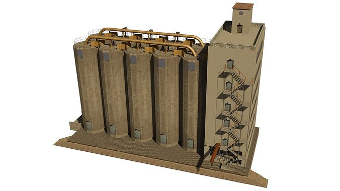 silo 3d model low-poly 3ds blend ms3d 1