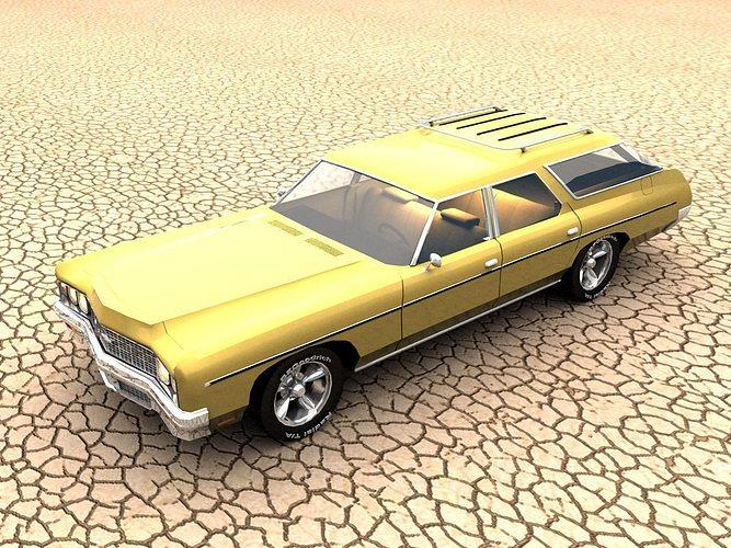1973 chevrolet impala wagon 3d model max stl 1