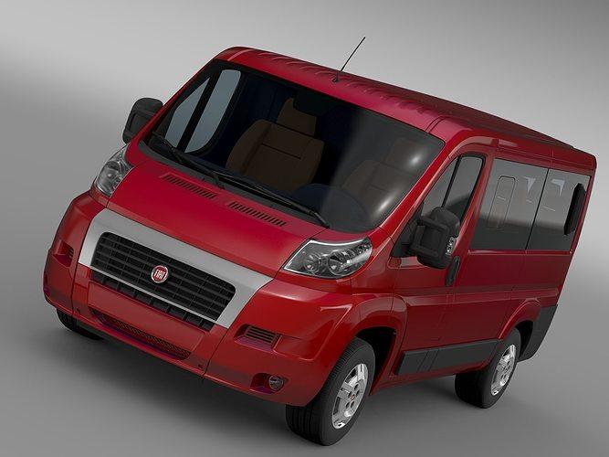 fiat ducato mini bus l1h1 2006 2014 3d cgtrader. Black Bedroom Furniture Sets. Home Design Ideas