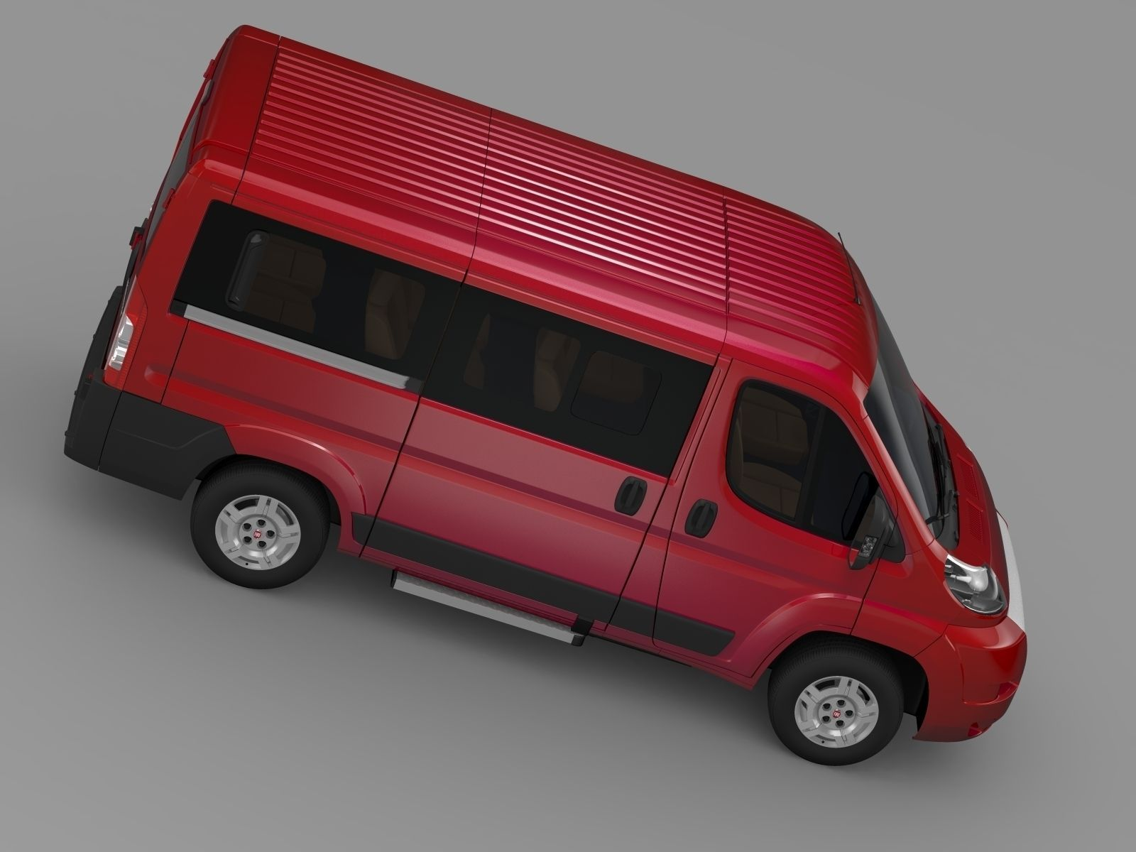 fiat ducato mini bus l1h1 2006 2014 3d model max obj 3ds. Black Bedroom Furniture Sets. Home Design Ideas