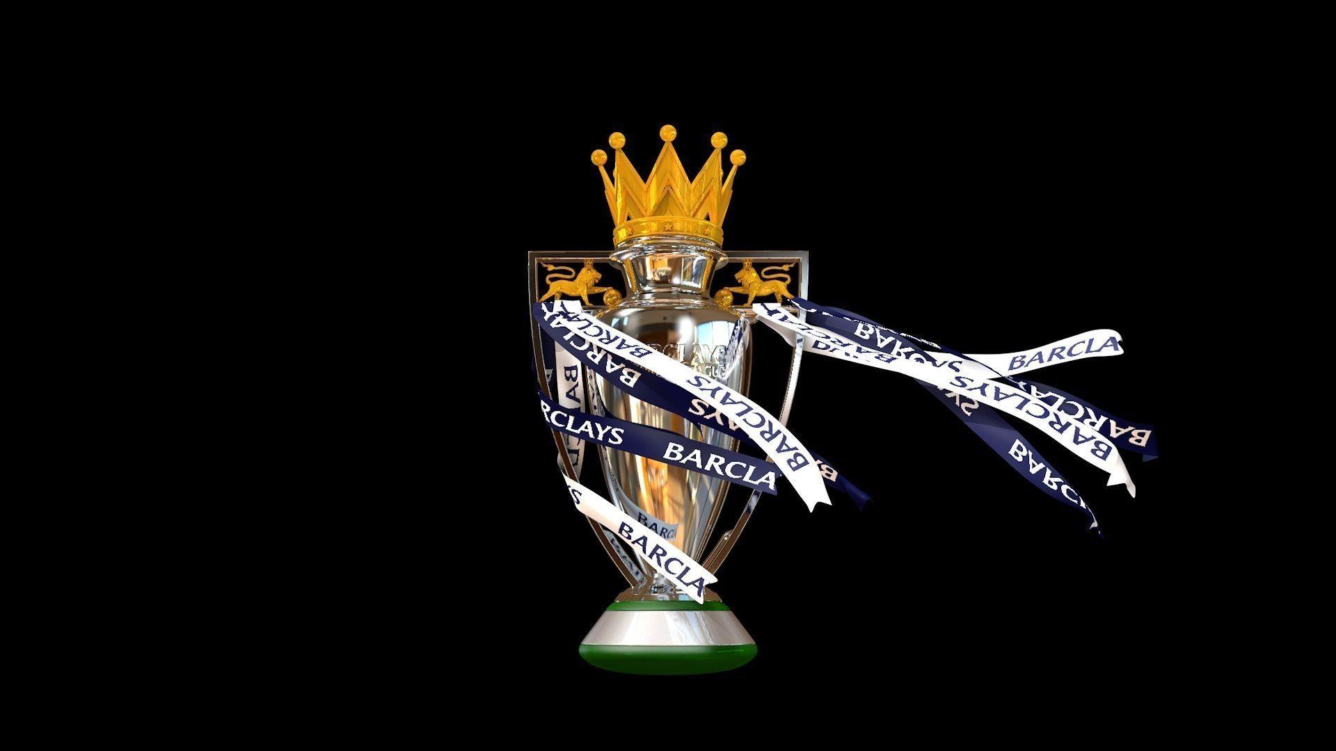 English Premier League Trophy 2015-2016 3D Model Animated