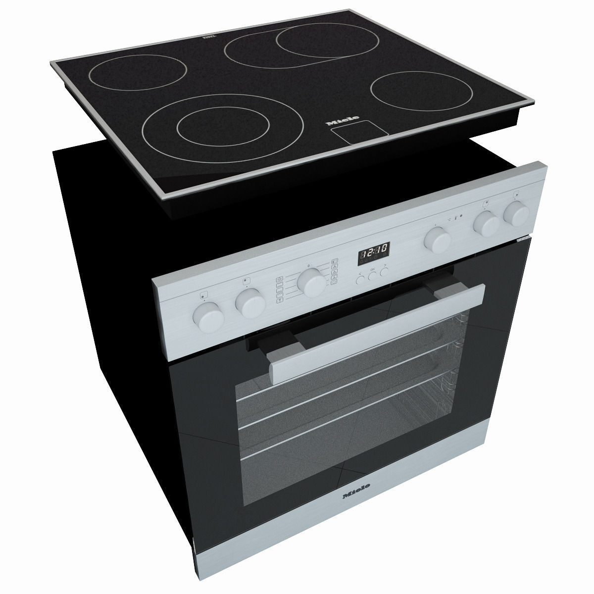 ... Miele H2261 Oven Miele Km6012 Electric Cooking Panel 3d Model Max Obj  Fbx Mtl 3 ...