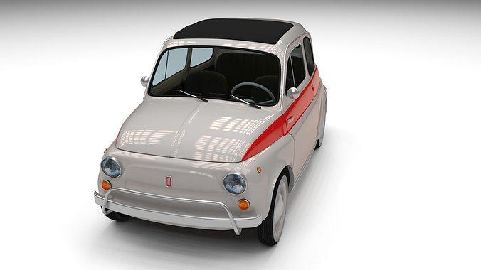fiat 500 nuova sport 1958 3d model obj mtl fbx stl blend dae 1