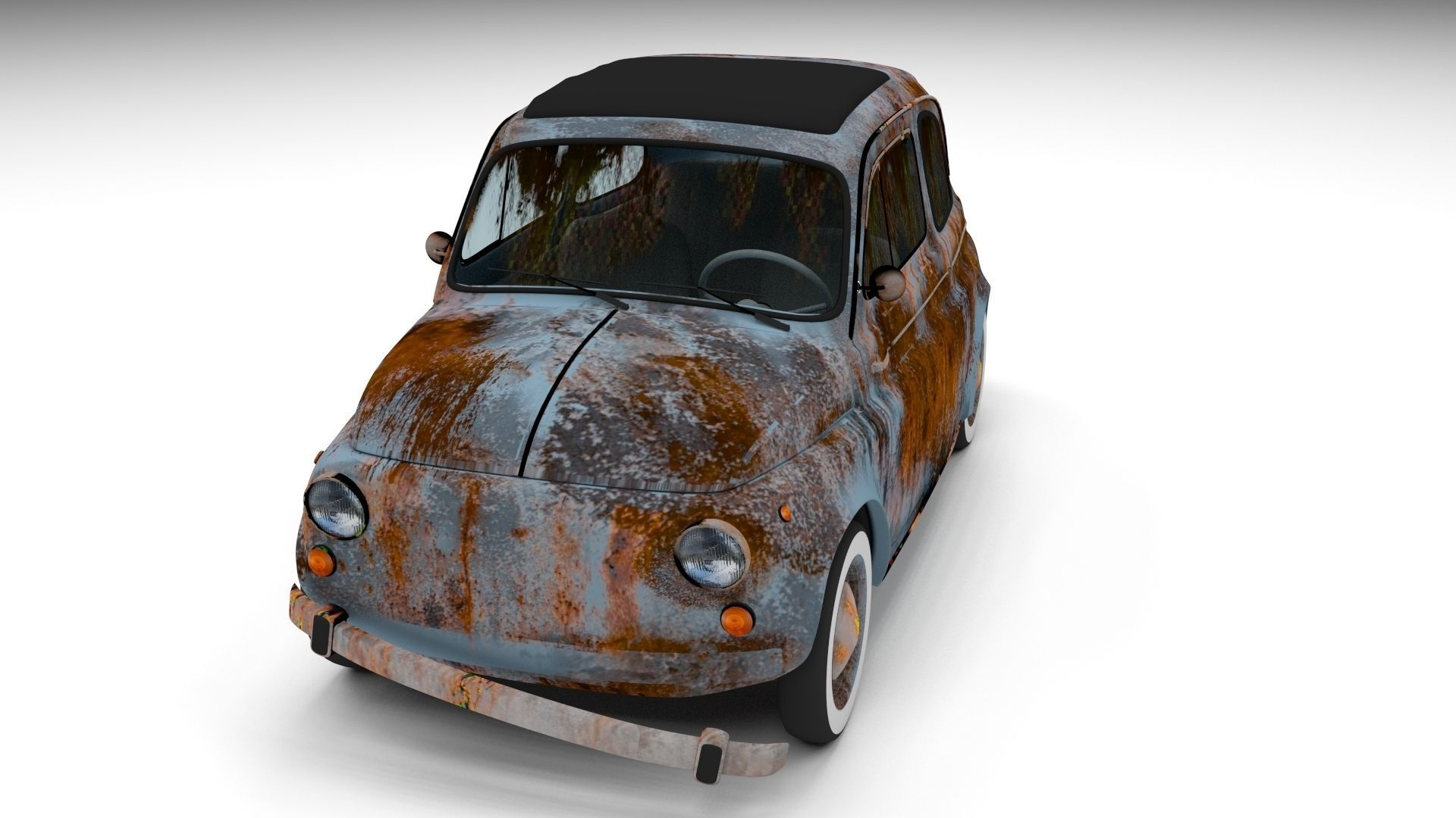 Weathered Fiat 500 Nuova