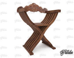 Savonarola chair 3D asset
