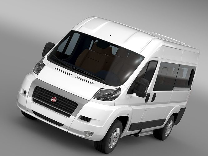 fiat ducato panorama l2h2 2006 2014 3d model cgtrader. Black Bedroom Furniture Sets. Home Design Ideas