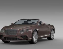Bentley Continental GT V8 Convertible 2015 3D Model
