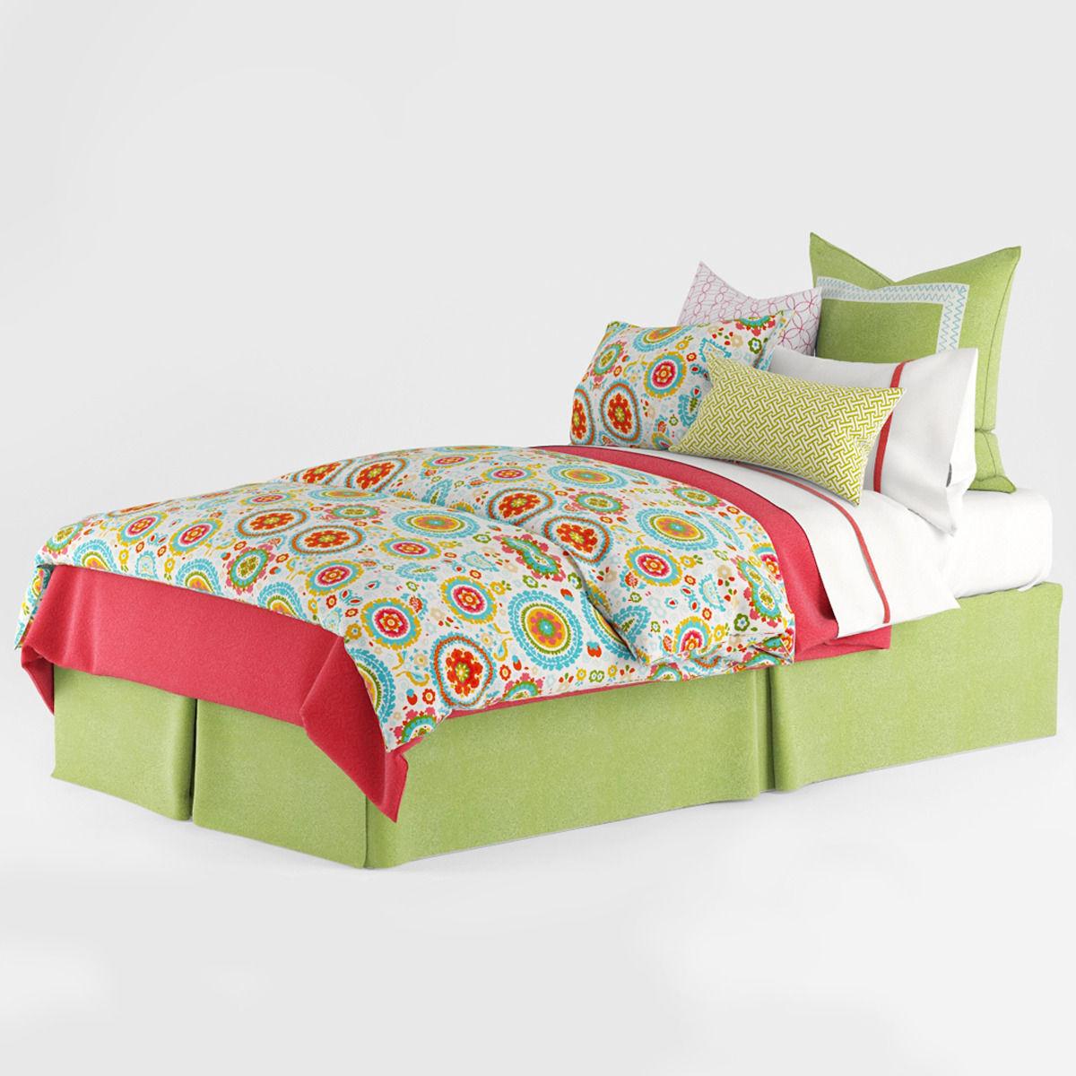 Kids Bedroom 3d Model bedclothes kids green 3d model max obj fbx