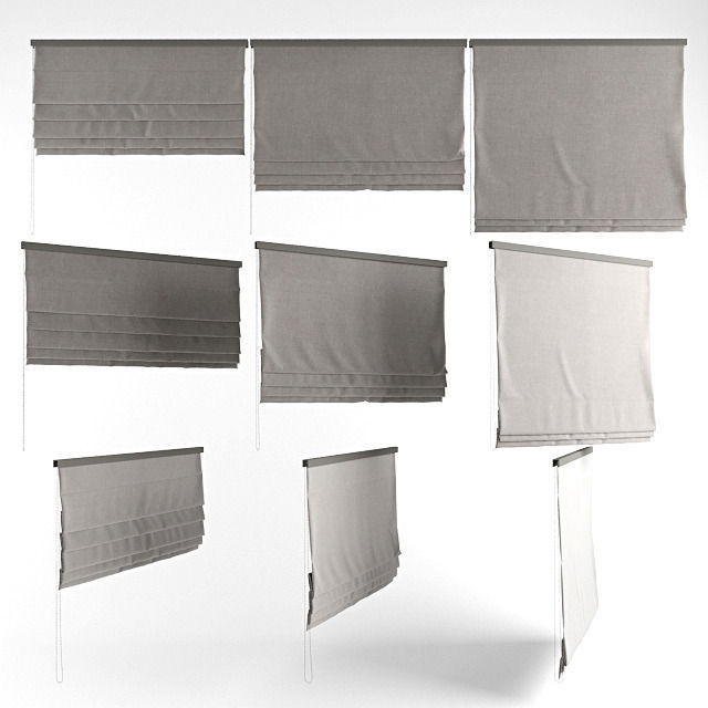 Roman blinds grey