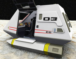 rigged 3d shuttle model xv sci-fi spaceship