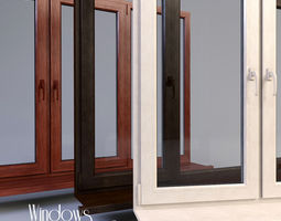 Windows collection wood 3D
