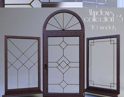 3D model Windows collection muntin bars
