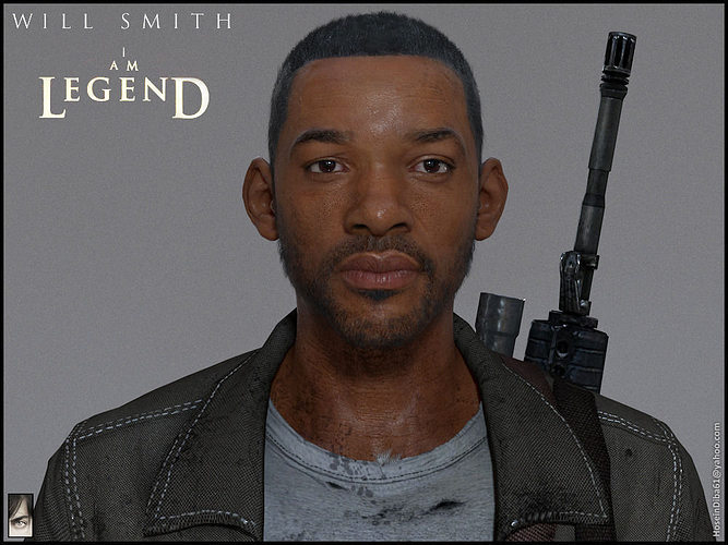 will smith from i am legend 3d model obj mtl ztl tga 1