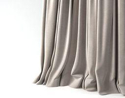 3d model window curtain