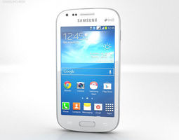 3D model Samsung Galaxy S Duos 2 S7582 White