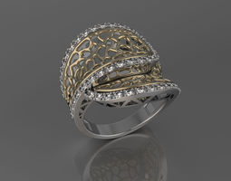 3d print model ring for woman or girl