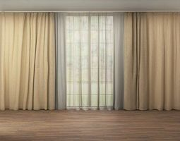 window curtain 02 3d model