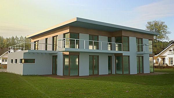 minimalist modern house 3d model max 3ds fbx c4d lwo lw lws ma mb 1