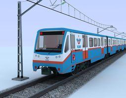 3D SUBURBAN TRAIN