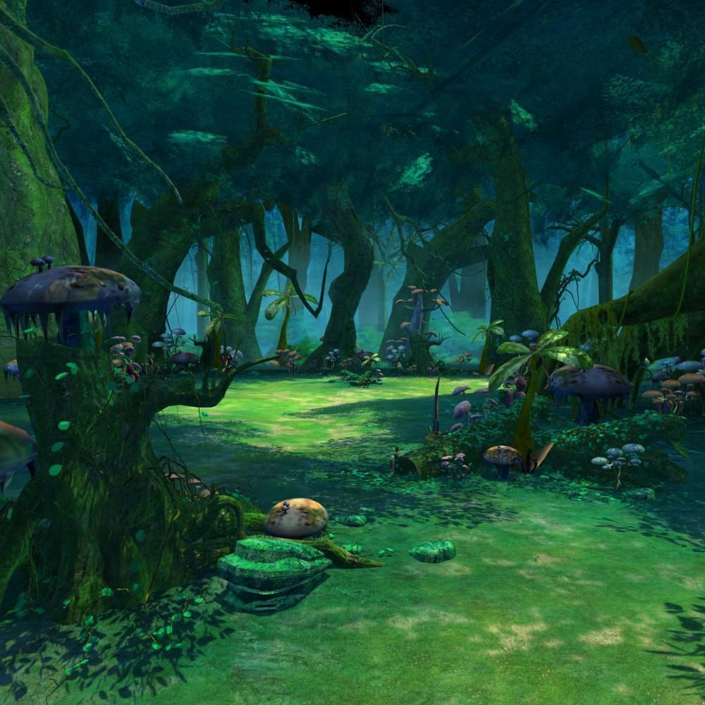 Cartoon Forest Scene 3d Model Max Tga