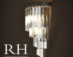3D HELIX GLASS SCONCE RH