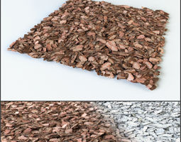 3D Mulch of pine bark