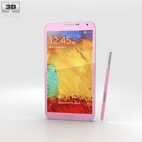 samsung galaxy note 3 pink 3d model max obj 3ds fbx c4d lwo lw lws 1