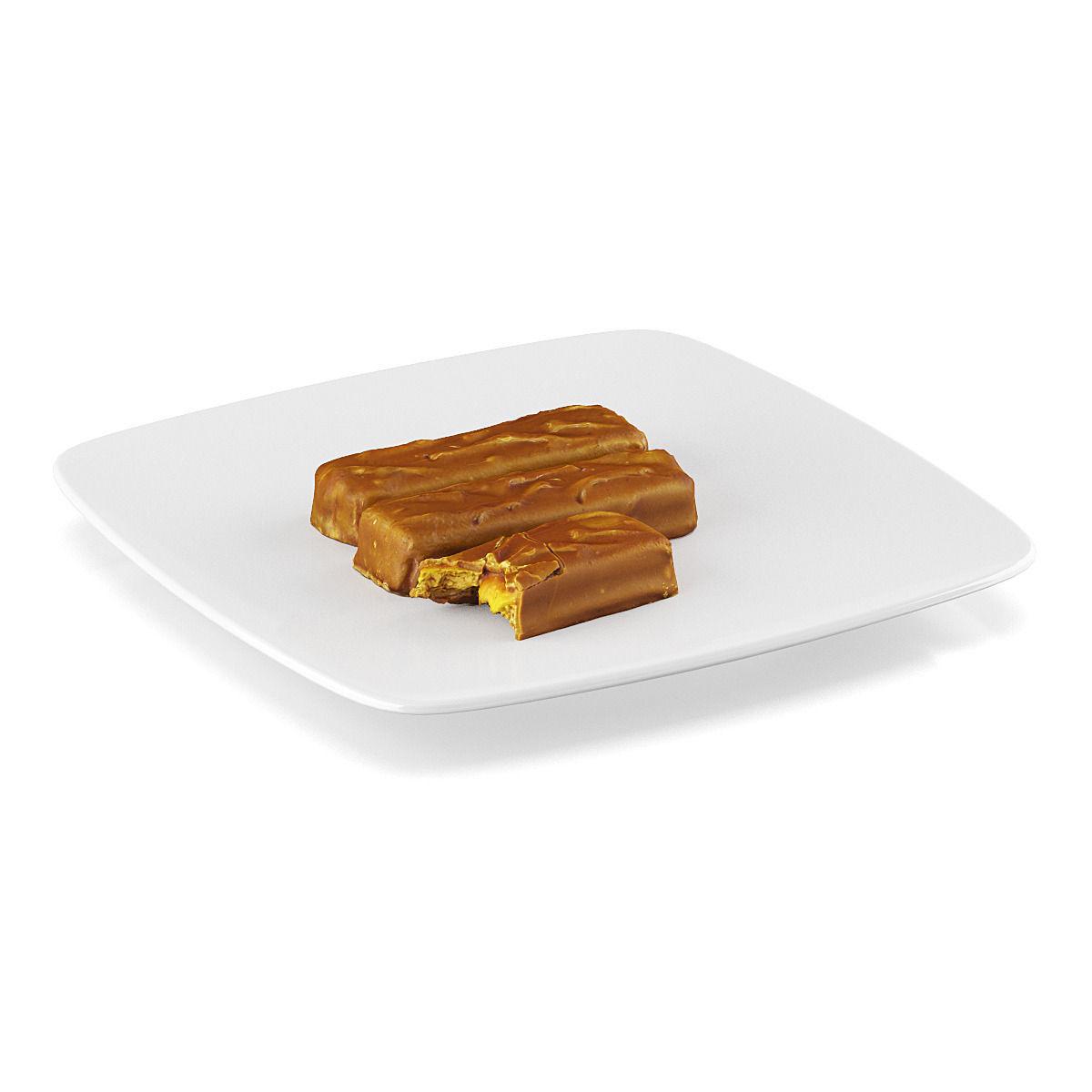 Chocolate bars 3 3d model max obj fbx c4d for Food bar 3d model