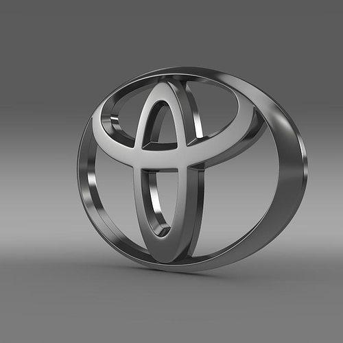 Toyota Logo 3d Cgtrader