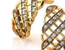 mesh earrings 3d print model