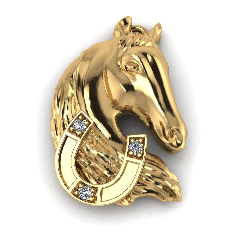 Horse pendant 3d printable model cgtrader horse pendant 3d model stl 3dm 3 aloadofball Images